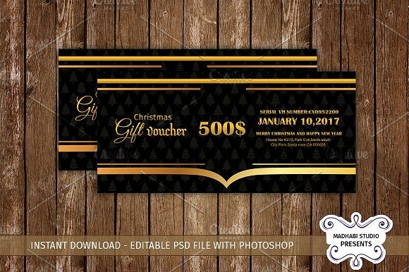 Multipurpose Gift Voucher Template  @creativework247