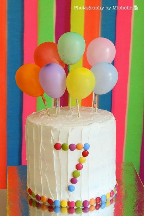 Birthday Cake Decorated With Balloons : 1000+ ideas about Toddler Birthday Cakes on Pinterest ...