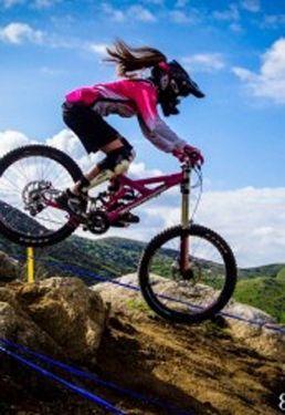 For more great pics, follow bikeengines.com #mtb #downhill #biker #girl
