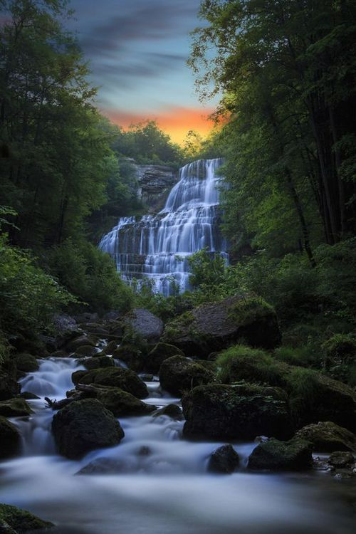 Les Cascades du Hérisson, Jura Lakes, France; I so wish I was there right now!!!
