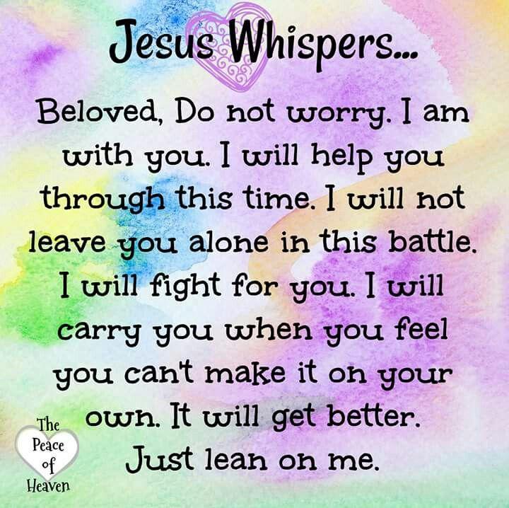 Jesus Whispers. Mildred Williams
