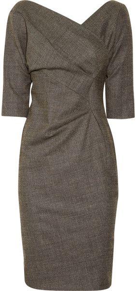 Wrap-effect dress, vintage style