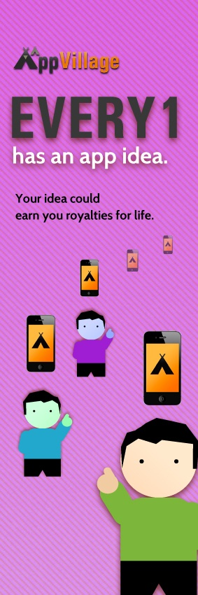 Submit your app idea to get assessed and if accepted into the village you will have the opportunity to earn royalties for the life of your app.