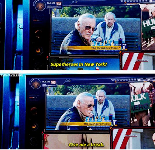 "Stan Lee's cameo appearance in ""Avengers"""