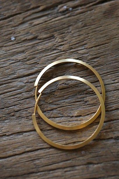Midi hoops gold