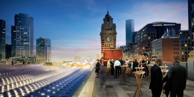 The Flinders Street Station Winning Proposal / HASSELL + Herzog  de Meuron