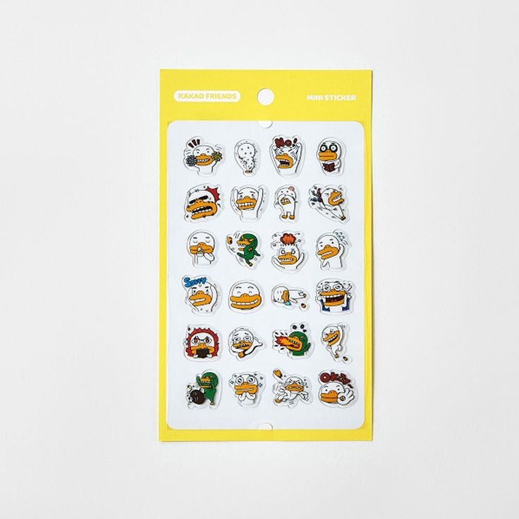 Korea Kakao Talk Friends Character Transparent Mini Sticker Tube ver1 #KakaoFriends #Transparentstickers