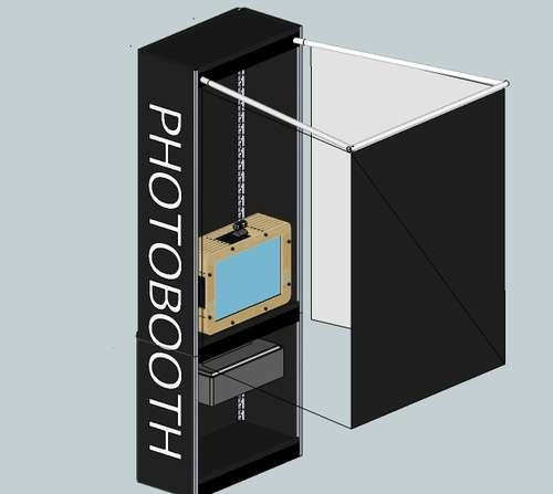 A photobooth would be pretty cool at the office - they are FREAKING EXPENSIVE.  Maybe we could DIY one...