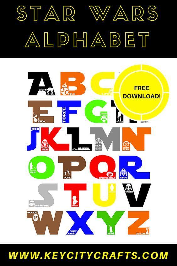 Star Wars Alphabet Free Cut File Blog Diy Key City Crafts