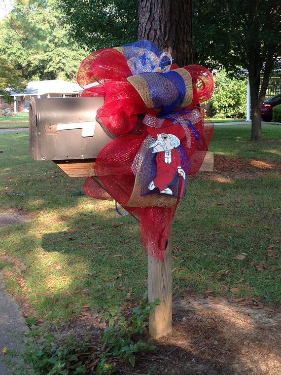 Col Rebel mailbox cover by CreationsByJude on Etsy, $35.00