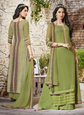 Haya 5904 - Green Color Georgette Designer Suit