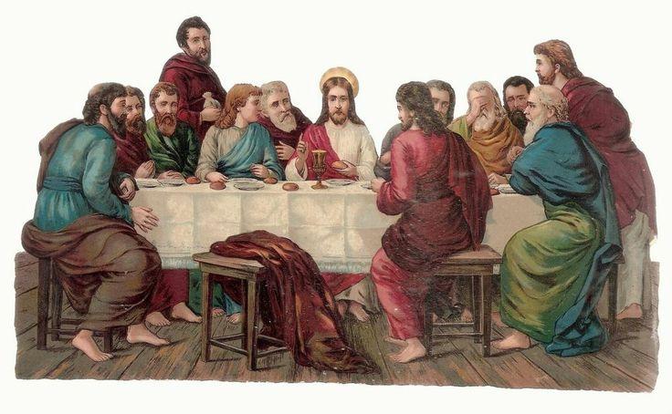 Jésus a Table avec les Apotres