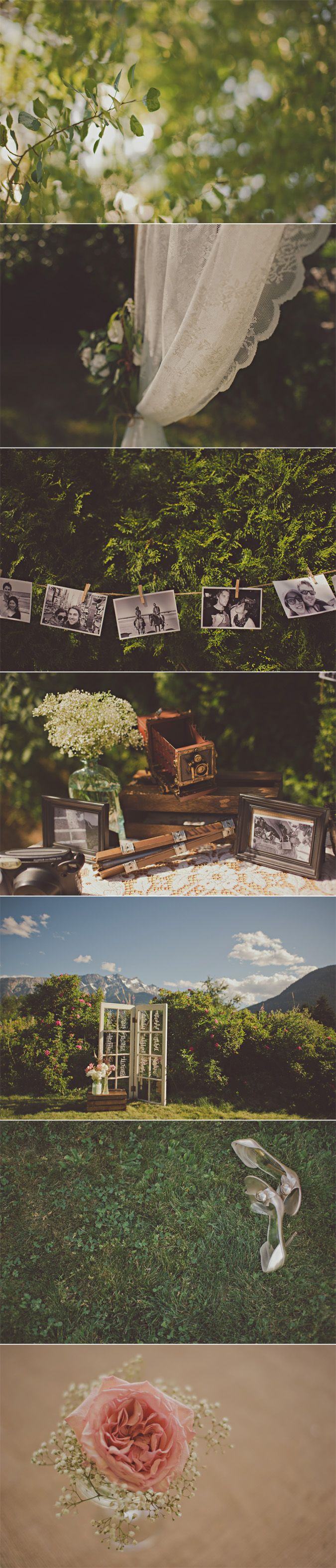 beautiful diy details at a wedding in pemberton, bc