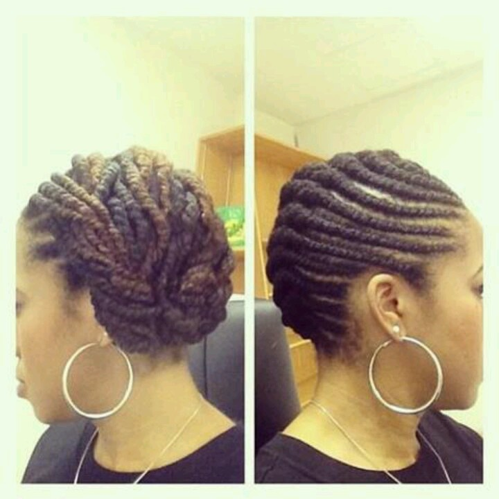 Flat Twists To The Side Protective Style Natural Hair