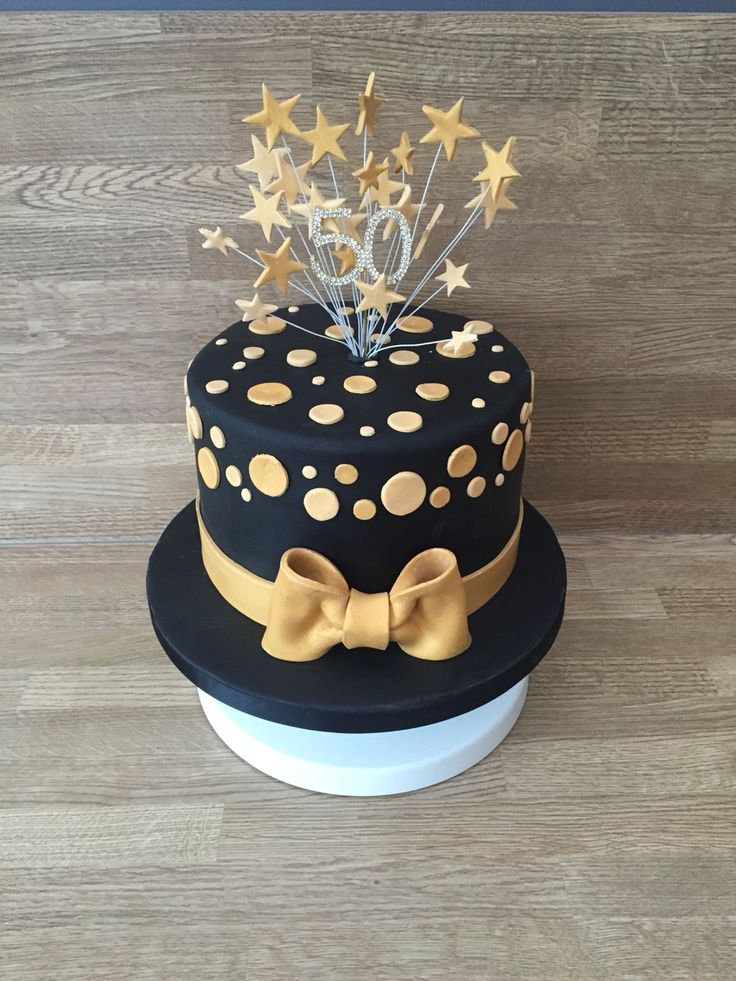 Black And Gold Cake Cakes 40th Birthday Cakes 60th