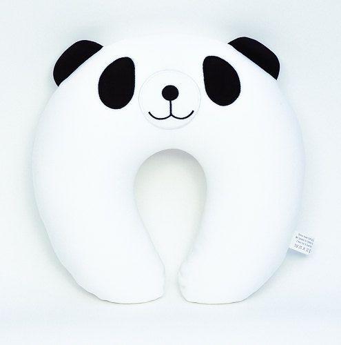 FocusM Micro Beads Soft Travel Neck Pillow, Outdoors, Car, Home, Office: Cute Panda