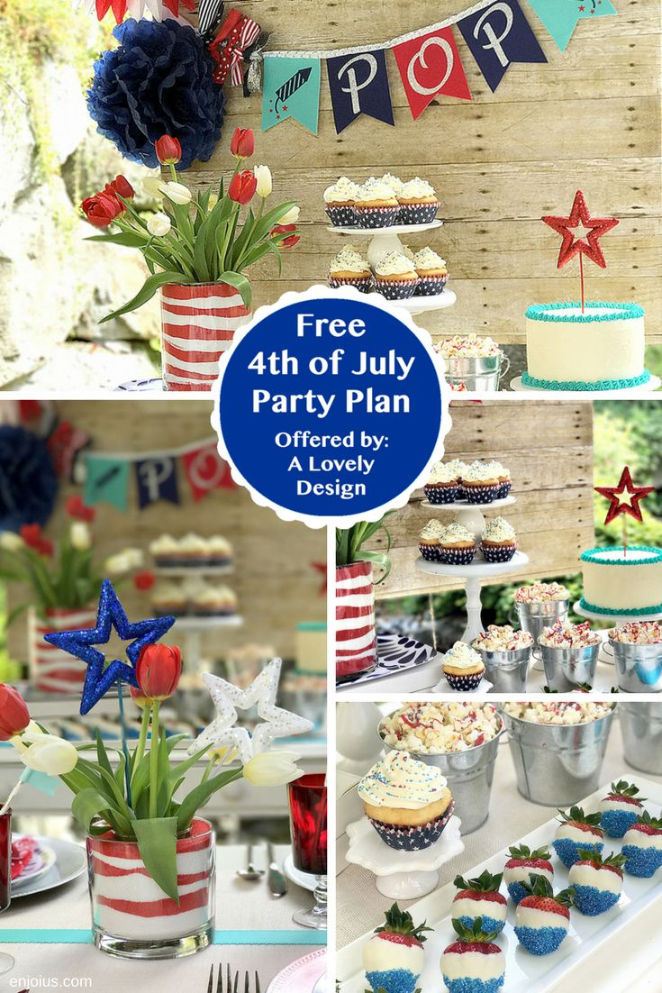 Aspire to throw a Pinterest-worthy 4th of July party? Let one of Enjoius'…