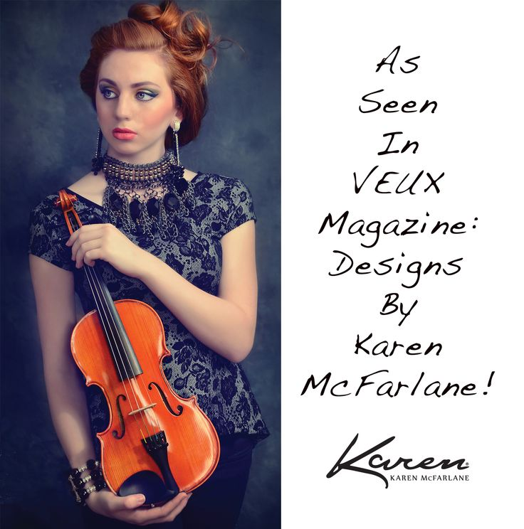 As Seen In Veux Magazine: Designs By Karen McFarlane! Honored to see such lavish use of my work! Thanks to: Model: Gabriella MacPherson Photography: Michele Taras Photography Makeup & Hair: Lisa Ann Torti Makeup Artist Earrings: http://jewellerybykaren.com/boutique/earrings/earrings-1030e Necklace: http://jewellerybykaren.com/boutique/necklaces/necklace-870n Bracelet: http://jewellerybykaren.com/boutiq…/bracelets/bracelet-1025b