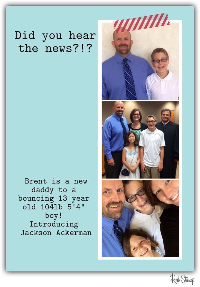 Step-parent adoption announcement
