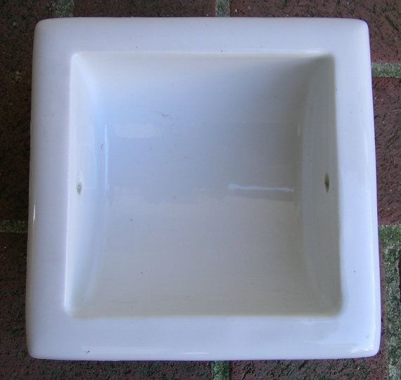 Vintage Recessed Toilet Paper Holder White Porcelain Ceramic China Toilets Vintage And