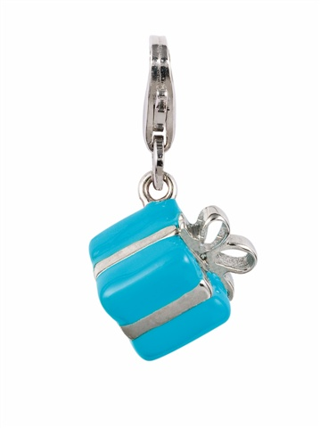 Amore & Baci turquoise silver charm - present