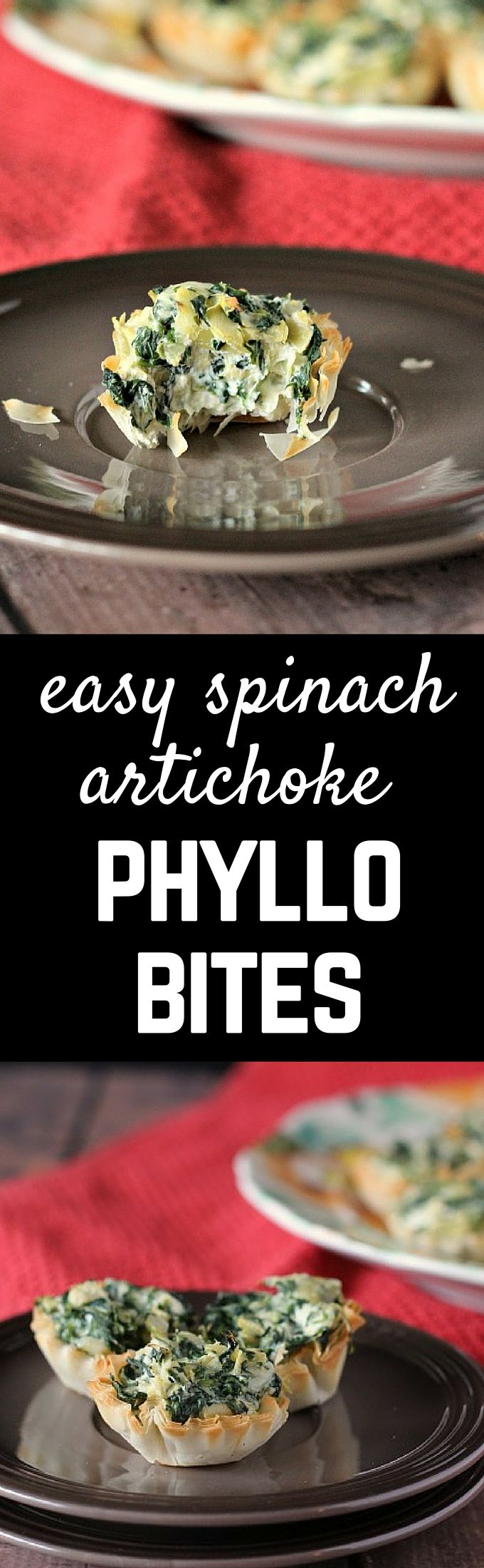 Spinach Artichoke Phyllo Bites will be a hit at your next party. Get the easy recipe on RachelCooks.com!