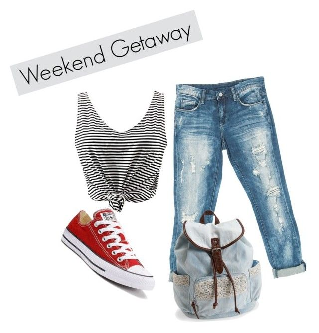 """""""Weekend Getaway"""" by lizdalma on Polyvore featuring Sans Souci, Aéropostale and Converse"""