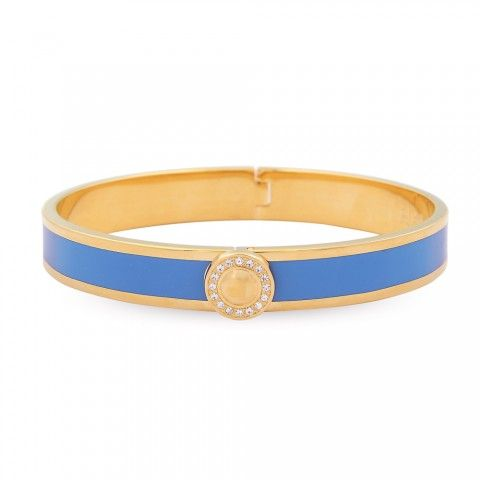 Sparkle Button Bangle, Bluebell & Gold
