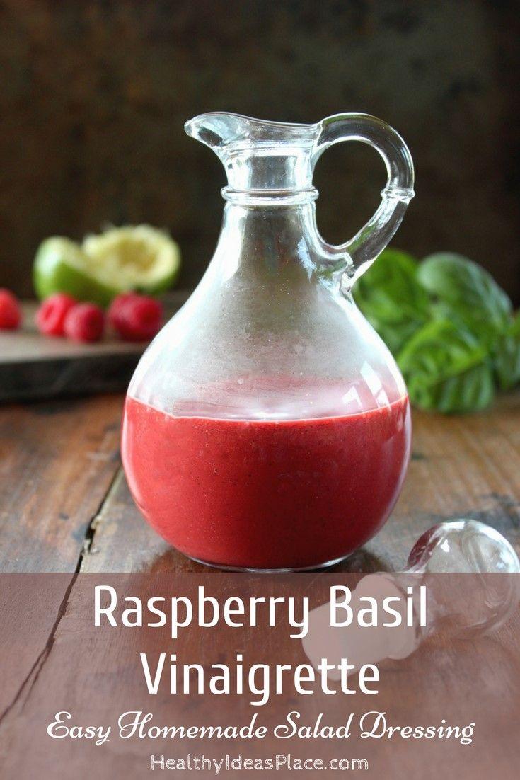 Raspberry Basil Vinaigrette Recipe Basil Vinaigrette Raspberry Salad Dressing Vinaigrette