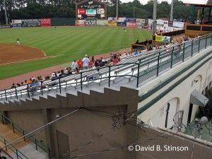 View from Grandstand of Original Concrete Bleachers, Grayson Stadium, Savannah, Georgia
