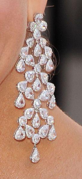 Nancy O'Dell Diamond Chandelier Earrings...   .... but in blue druzy would be my something blue....