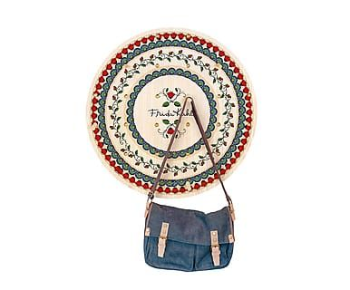 Perchero circular de madera de pino Mandala - multicolor