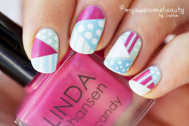 My Awesome Beauty: Geometric figures tutorial (striping tape)