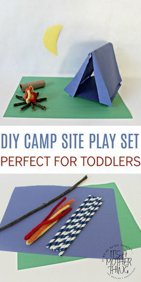 Girl Scout Camping Craft Idea Easy Diy Campsite Playset For