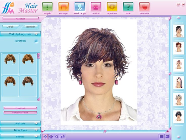 virtual hair color simulator