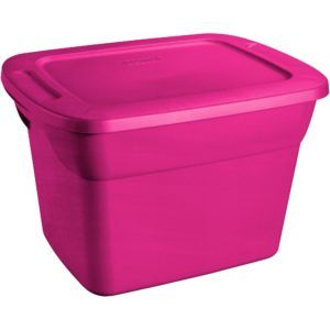 Small Pink Plastic Storage Boxes