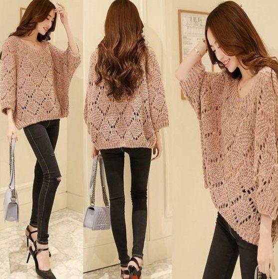 Пуловер спицами - узор