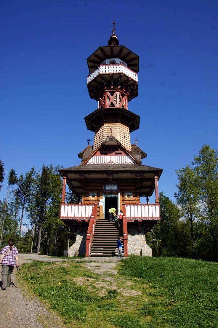 Jurkovicova rozhledna (observation tower) - Roznov pod Radhostem, Czech Republic
