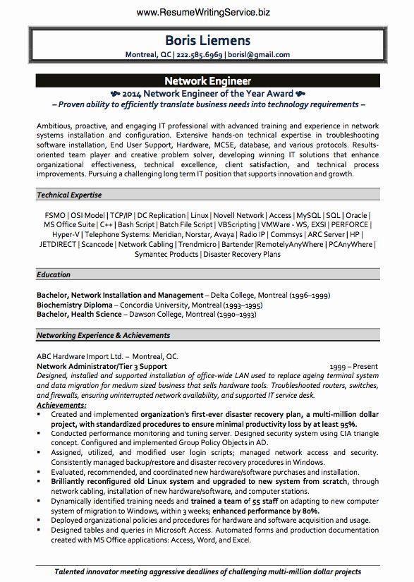 Network Engineer Resume Examples Lovely Cv Writing Service Engineering Transforming Career History Network Engineer Resume Writing Services Job Resume Examples