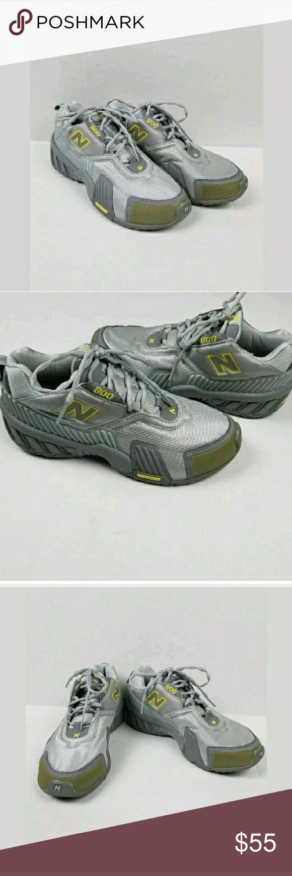 Women New Balance Abzorb WX800GY Gray/Yellow sz 8 Women New Balance Abzorb WX800GY Gray/Yellow Light Weight Cross Trainer sz 8  Stains noted in photos. New Balance Shoes Sneakers