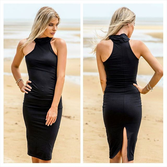 Sophisticated black bodycon dress that will take you from the office to the bar. Pair with your favourite heels and clutch. Just $49.95 ➡ www.smoshboutique.com