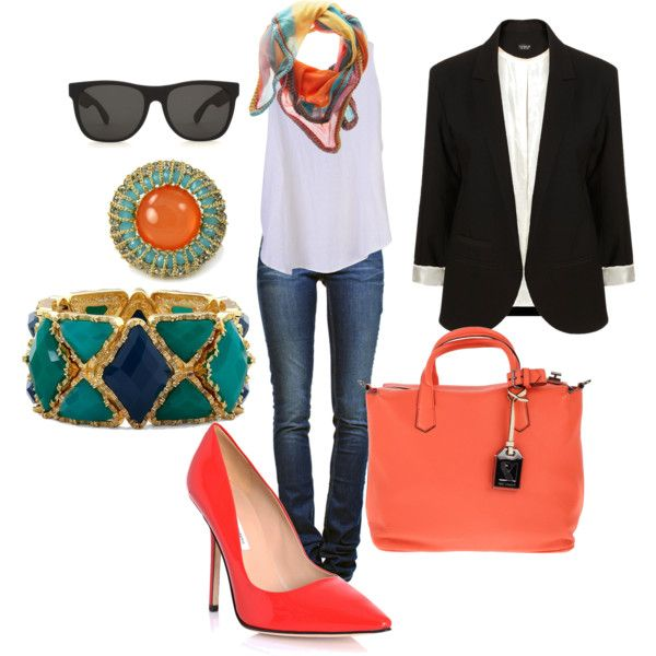 : Casual Summer Outfits, Night Outfit, Amazing Colors, Movie Night, Color Families, Color Combo Cute, Add Color, Bold Colors