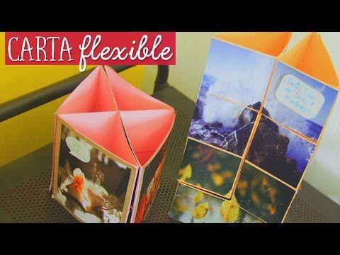 Como hacer una carta flexible con papel y cinta ✂️ Craftingeek - YouTube