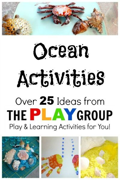 Ocean Activities-Over 25 ideas for sensory play, crafts, parties, and learning activities.