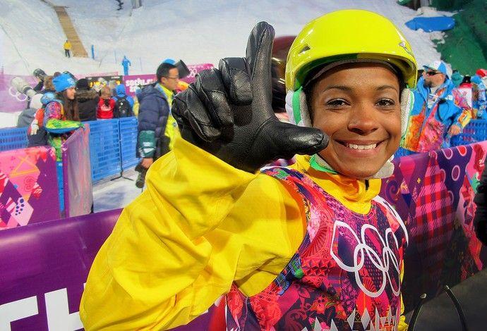 2014 Winter Olympics brasileira Josi Santos emociona e completa prova do esqui estilo livre em 22ª colocação.