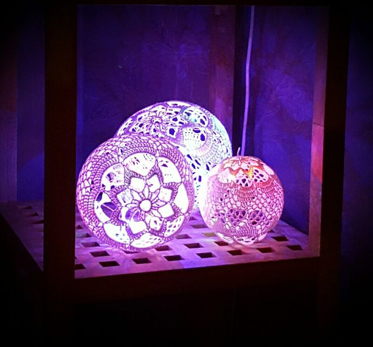 #Crochet#light#ball -Virka#ljusboll#