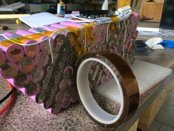 Custom li-ion battery pack production 36V 26Ah 10x Samsung 26f cells #18650 #custom #battery #samsung #liion #gogreen #ev