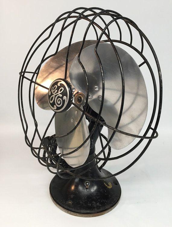 Antique Fan Industrial Fan GE Fan General by ModernArtifactDecor
