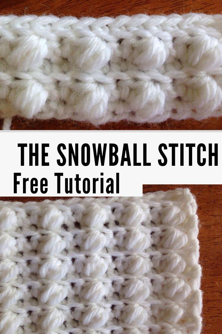 Como Crochetar o Ponto de Bola de Neve -