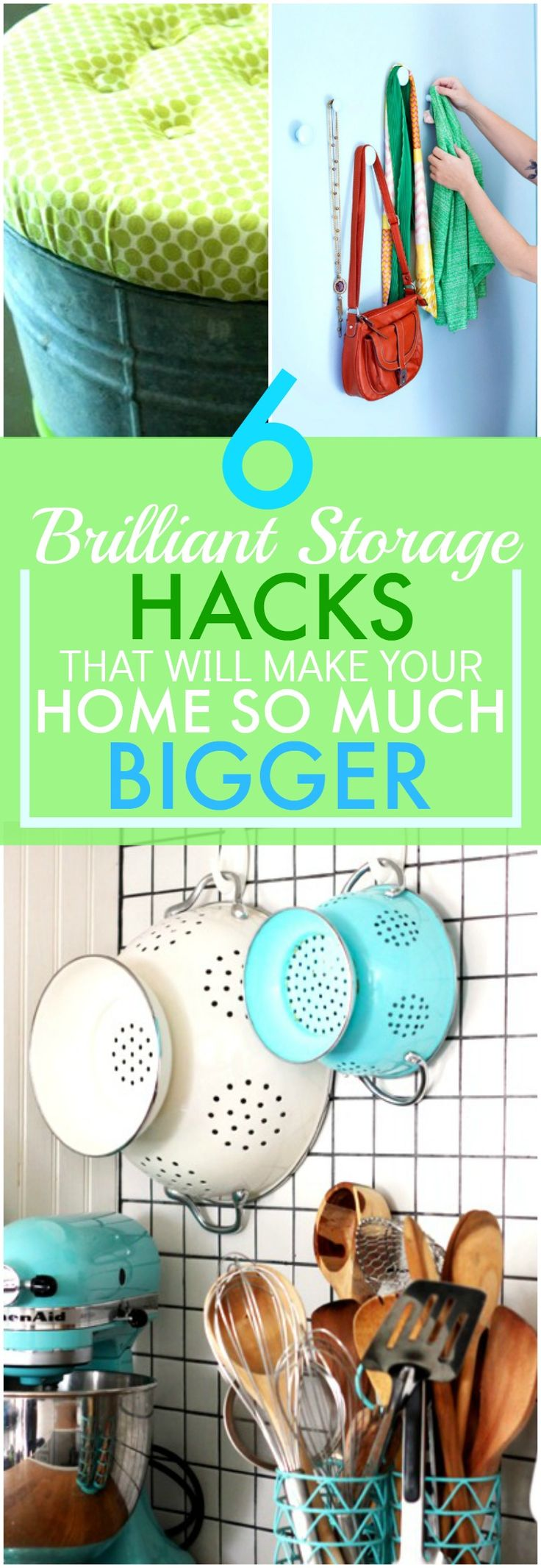 These 6 brilliant storage ideas have made my home look A TON bigger! I'm so glad I found this GREAT post! I found a ton of great resources and now I don't feel so cramped in my small space. SO pinning for later!